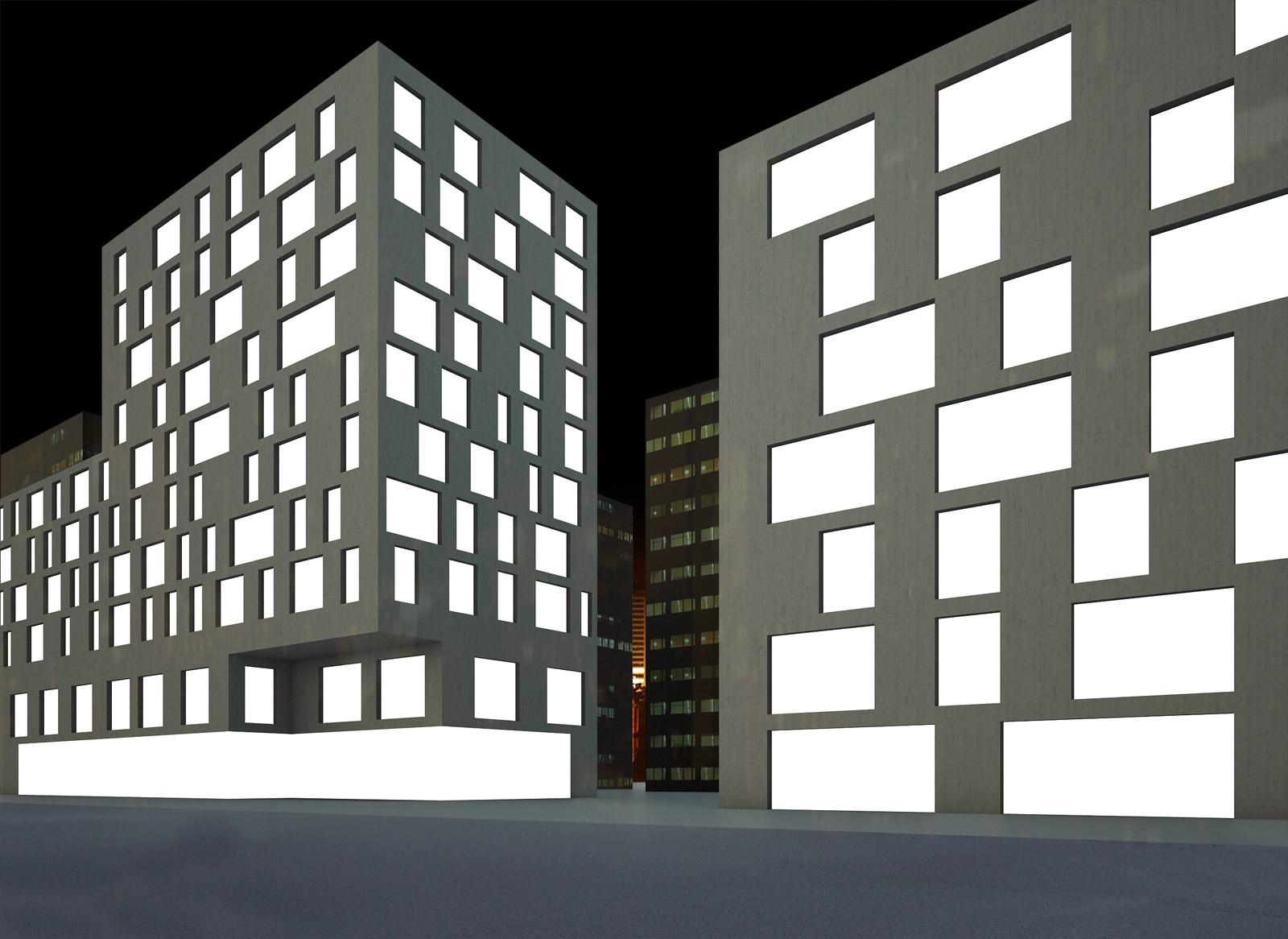 Buildings Night Textur...