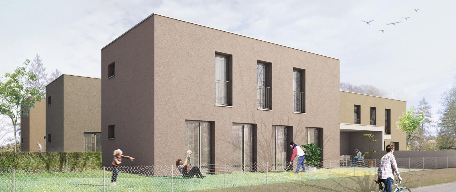 Compact housing – 5 houses in Genthod I Eduardo Hunziker, Claude Villat