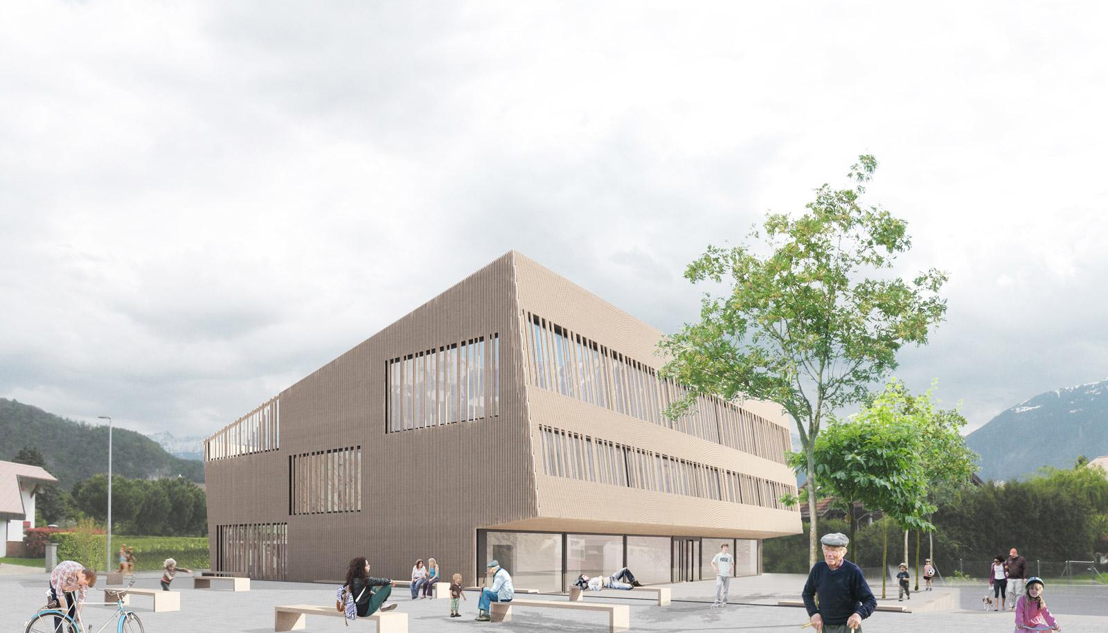 School, elderly housing and public space design I Croubalian Delacoste architectes