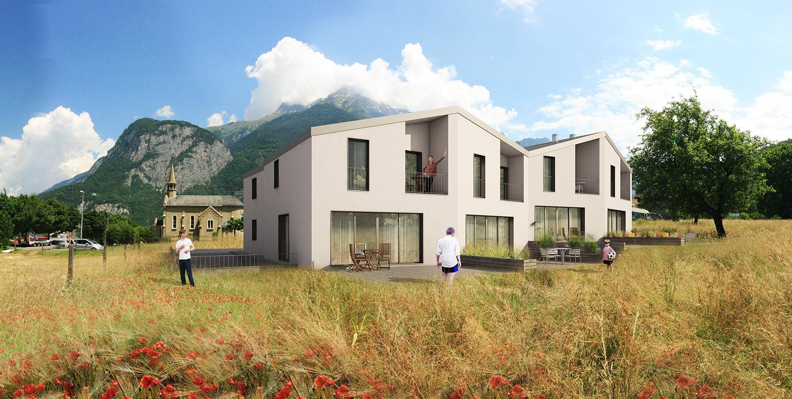 Housing in Saint-Maurice I Hüni Architectes