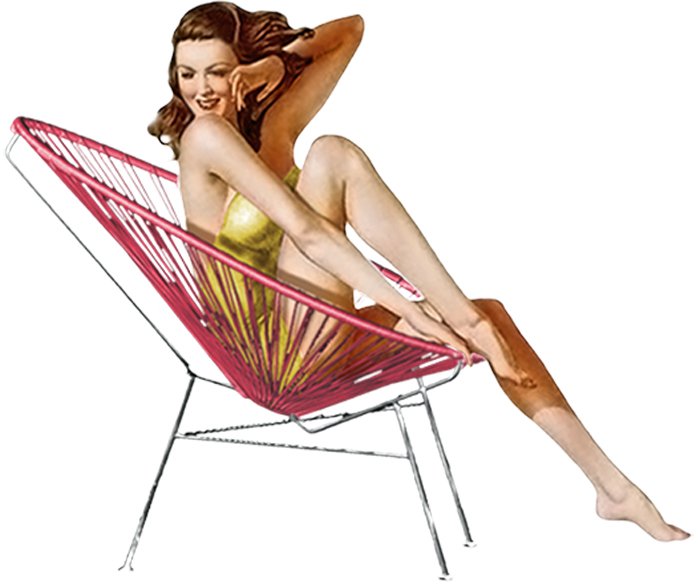 Original Acapulco lounge chair, illustration of the era, 1950 (Source: Internet)