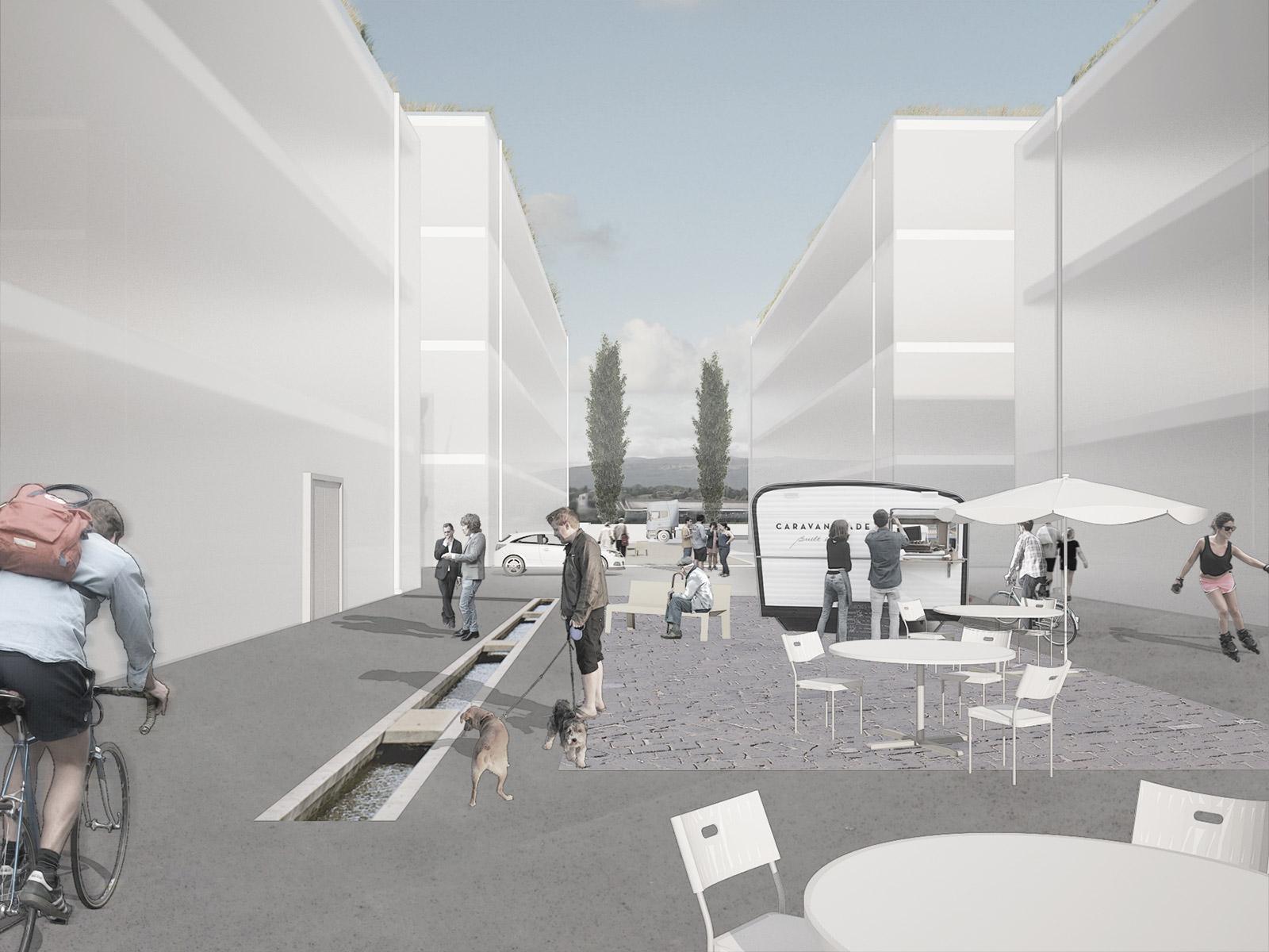 Study of urban spaces design in industrial area I Kuník de Morsier architectes