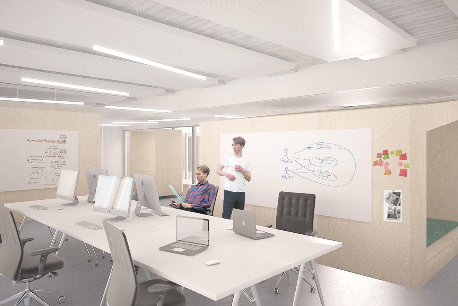 Corporate interior for technologic firm in Lausanne I Kuník de Morsier architectes
